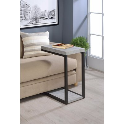 Mccranie Faux Cement Designed Snack End Table