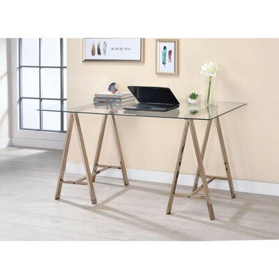 Gillett Captivating Metal Desk with Glass Top 58AC6E1764724F3AAF2B407140DF1BB6