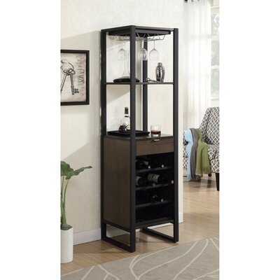 Leist Tower 10 Bottle Floor Wine Rack with Storage