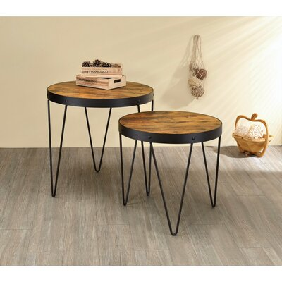 Mcdonell 2 Piece Round Metal End Table