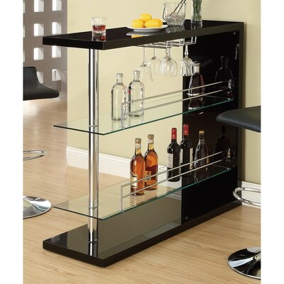 Teeken Rectangular Bar with Wine Storage