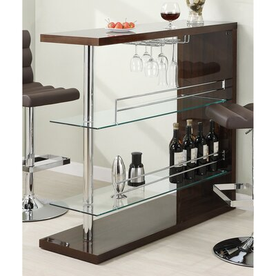 Terfloth Rectangular Bar with Wine Storage