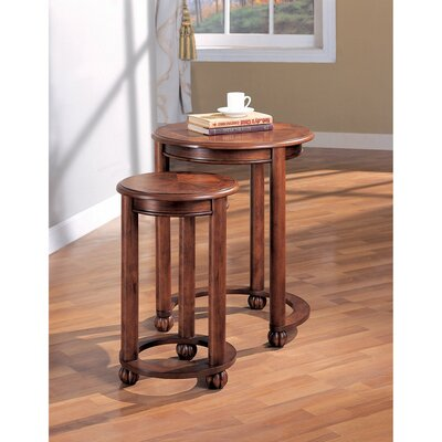 Elsje Wooden Round 2 Piece Nesting Tables