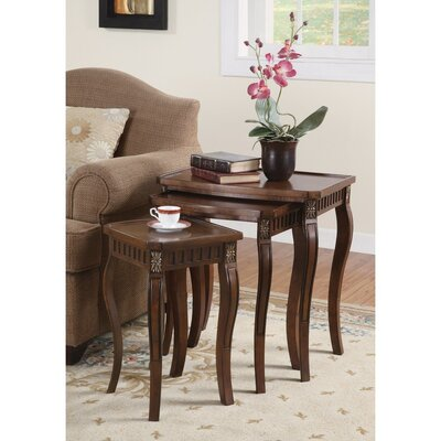 Emberto Wooden 3 Piece Nesting Tables