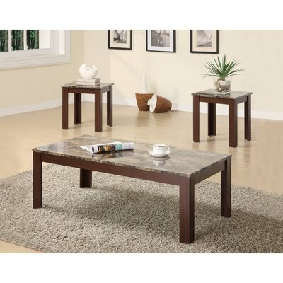 Colena Impressive 3 Piece Coffee Table Set Color: Brown