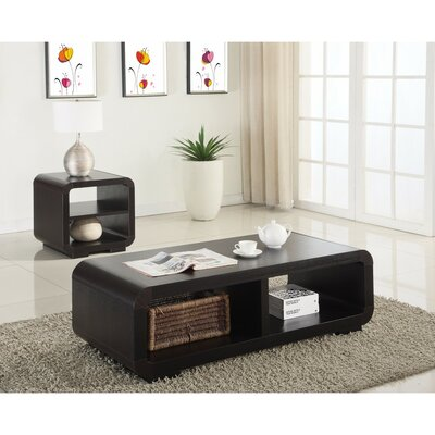 Ott Gleaming 2 Piece Coffee Table Set