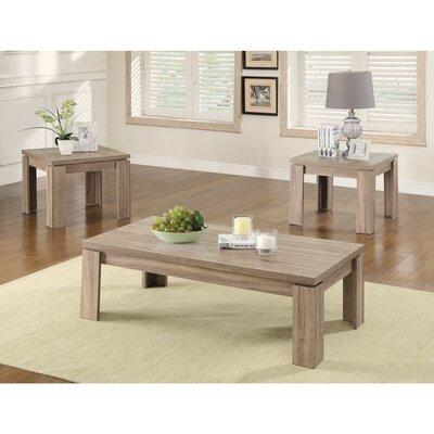 Beglin Weathered 3 Piece Coffee Table Set