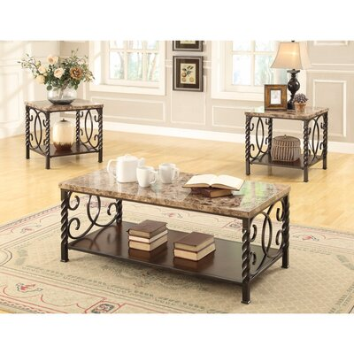 Colerain 3 Piece Coffee Table Set