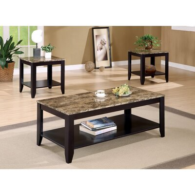 Clary 3 Piece Coffee Table Set