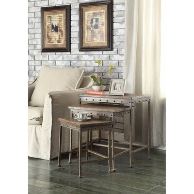 Eltingville Wooden 3 Piece Nesting Tables