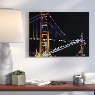 "'Glowing Golden Gate Bridge' Photographic Print on Canvas Size: 20"" H x 26"" W IVBX4855 44028951"