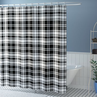 Elmwood British Tartan Pattern Shower Curtain Size: 69 W x 84 L