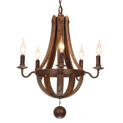 Plante 5-Light Candle-Style Chandelier