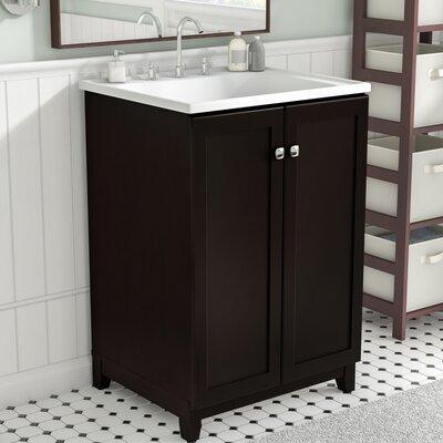 Rosalynn 2-Door 25 Single Bathroom Vanity Set Base Finish: Espresso