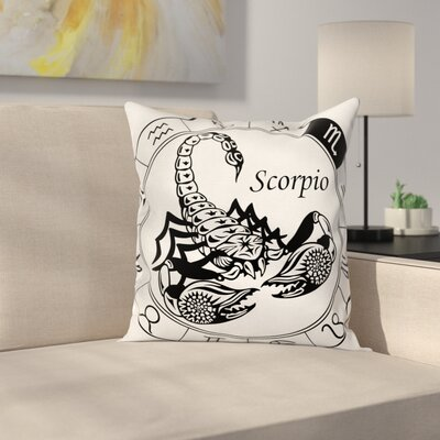 Zodiac Astrological Signs Square Pillow Cover Size: 16 x 16