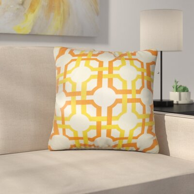 Calanthe Geometric Cotton Throw Pillow Cover Color: Sungold