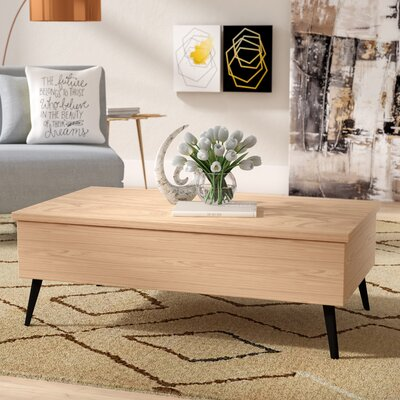 Bisson Coffee Table with Lift Top Color: Light Oak