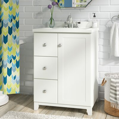 Rosalynn 1-Door 25 Single Bathroom Vanity Base Finish: White