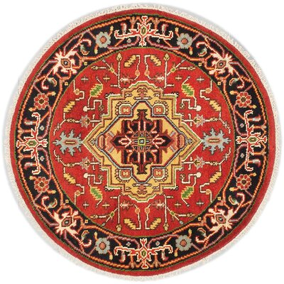 One-of-a-Kind Briggs Hand Knotted Wool Dark Copper Area Rug Rug Size: Round 41x41