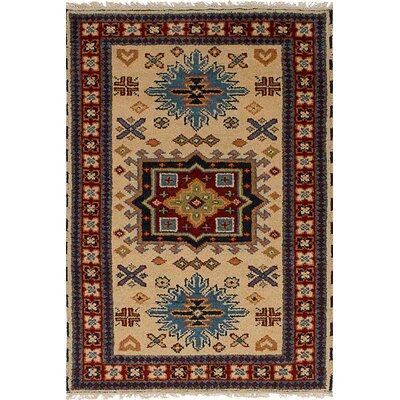One-of-a-Kind Berkshire Hand Knotted Wool Cream Area Rug