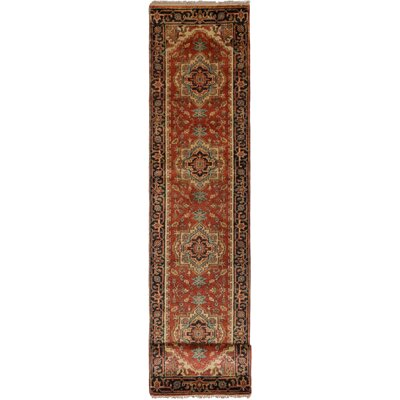 One-of-a-Kind Briggs Hand Knotted Wool Dark Copper Area Rug