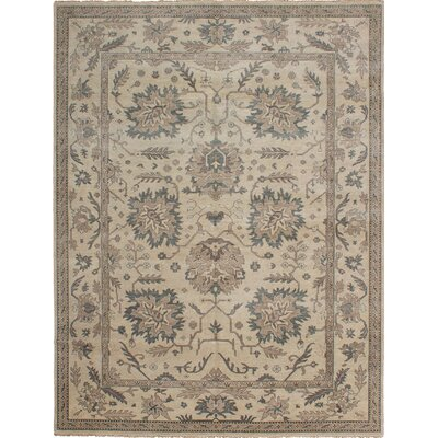 One-of-a-Kind Talleyran Hand Knotted Wool Light Khaki Area Rug