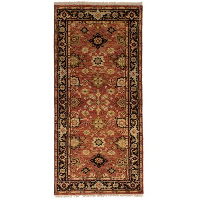 One-of-a-Kind Briggs Hand Knotted Wool Copper Area Rug Rug Size: Runner 27 x 511