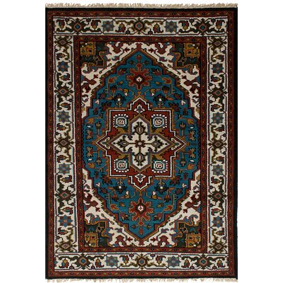 One-of-a-Kind Larsen Hand Knotted Wool Blue Area Rug
