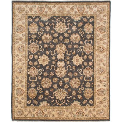One-of-a-Kind Wagner Hand Knotted Wool Black/Ivory Area Rug