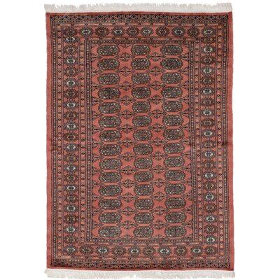 One-of-a-Kind Olney Springs Hand Knotted Wool Dark Copper Area Rug