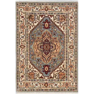 One-of-a-Kind Briggs Hand Knotted Wool Light Beige Area Rug