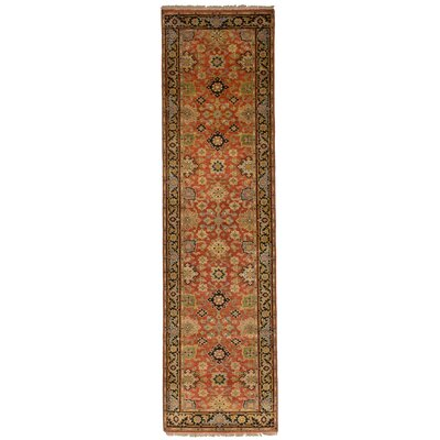 Briggs Hand Knotted Wool Light Red Area Rug