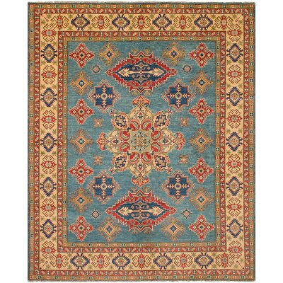 One-of-a-Kind Bernard Hand Knotted Wool Turquoise Area Rug