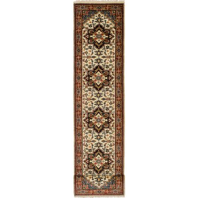 One-of-a-Kind Briggs Hand Knotted Wool Cream/Brown Area Rug