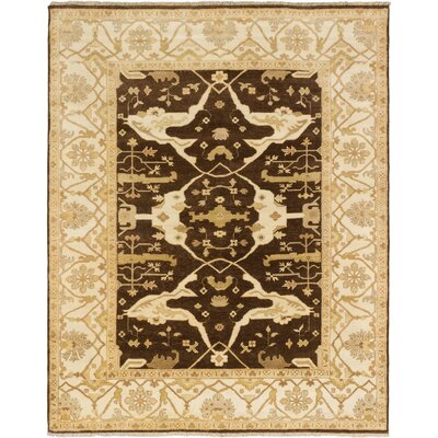 One-of-a-Kind Li Hand Knotted Wool Dark Brown Area Rug