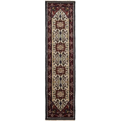 One-of-a-Kind Larsen Hand Knotted Wool Cream Area Rug