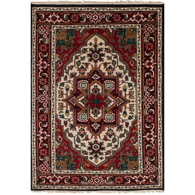 One-of-a-Kind Larsen Hand Knotted Wool Red Area Rug