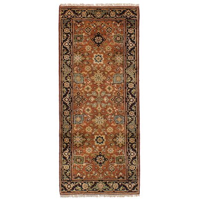 One-of-a-Kind Briggs Hand Knotted Wool Copper Area Rug Rug Size: Runner 26 x 6