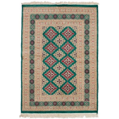 One-of-a-Kind Onondaga Hand Knotted Wool Green Area Rug