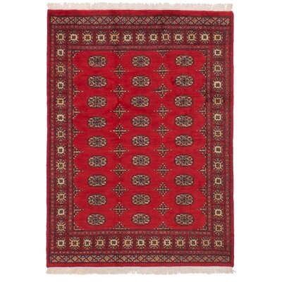 One-of-a-Kind Onondaga Hand Knotted Wool Red Area Rug Rug Size: Rectangle 42 x 510