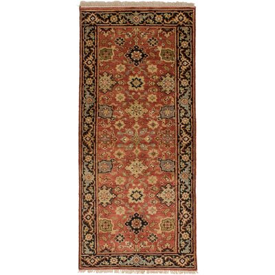 One-of-a-Kind Briggs Hand Knotted Wool Copper Area Rug Rug Size: Runner 27 x 6