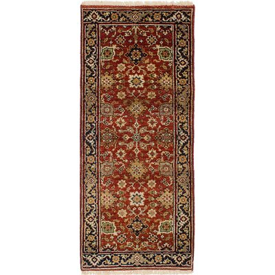 One-of-a-Kind Briggs Hand Knotted Wool Red Area Rug Rug Size: Rectangle 26 x 511