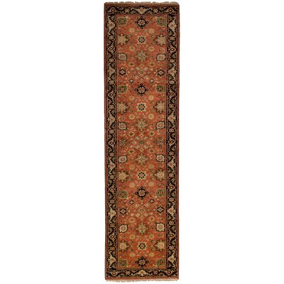 One-of-a-Kind Briggs Hand Knotted Wool Copper Area Rug Rug Size: Runner 27 x 102