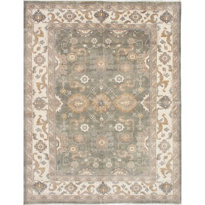 One-of-a-Kind Li Hand Knotted Wool Dark Gray Area Rug
