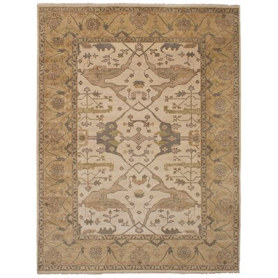 One-of-a-Kind Li Hand Knotted Wool Ivory Area Rug
