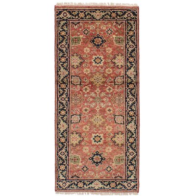 One-of-a-Kind Briggs Hand Knotted Wool Red Area Rug