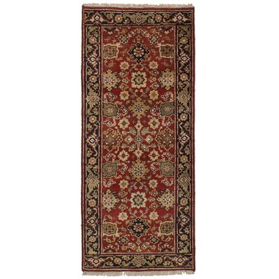One-of-a-Kind Briggs Hand Knotted Wool Red Area Rug Rug Size: Runner 26 x 511