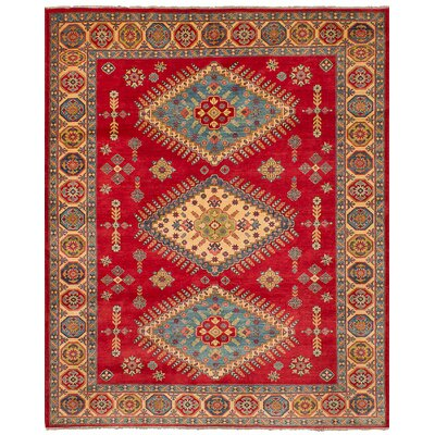 One-of-a-Kind Bernard Hand Knotted Wool Red Area Rug