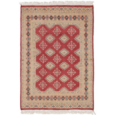 One-of-a-Kind Onondaga Hand Knotted Wool Red Area Rug