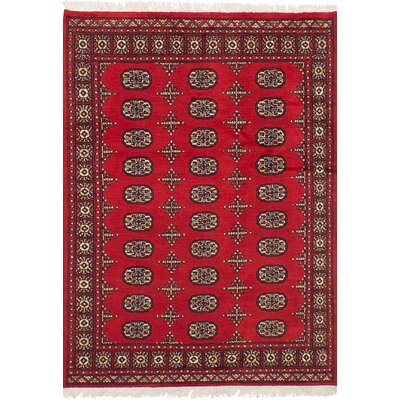 One-of-a-Kind Onondaga Hand Knotted Wool Red Area Rug Rug Size: Rectangle 42 x 60